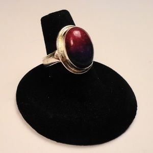 Jewelry - Purple Pink bi-color African Agate gemstone Ring
